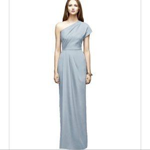 Lela Rose LR217 one shoulder maxi bridesmaid dress